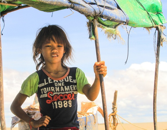 Young girl from the nearby boat.