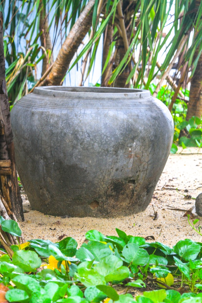 Big pottery pot seen in many places in Cambodia.