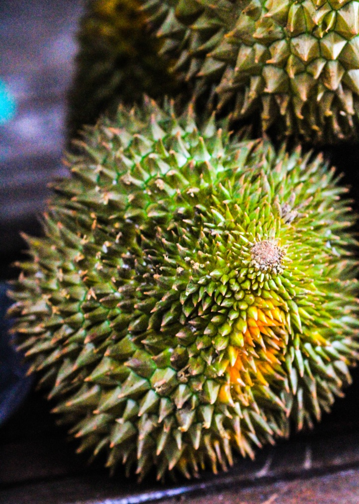 Durian - a very smelly fruit.