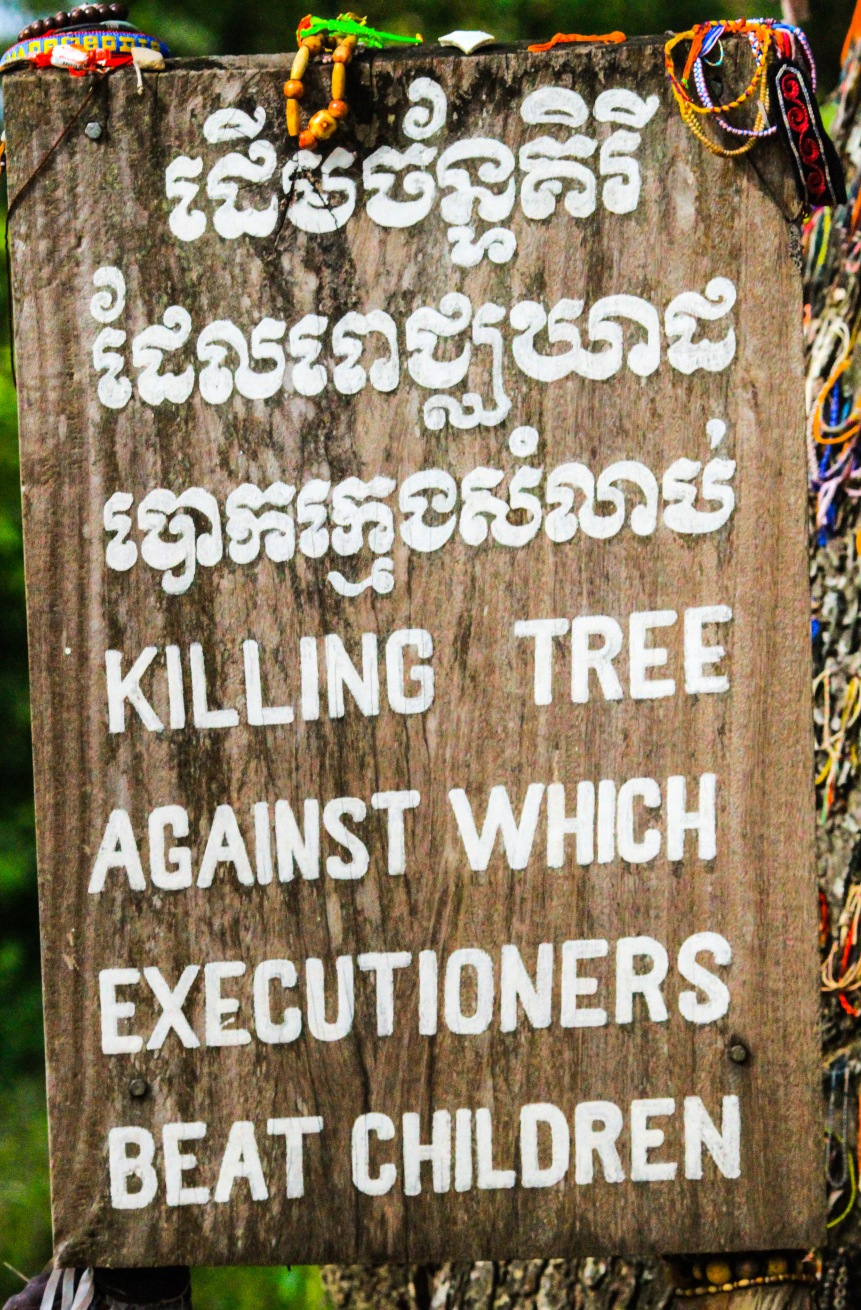 Sign by the killing tree - so   horrible!