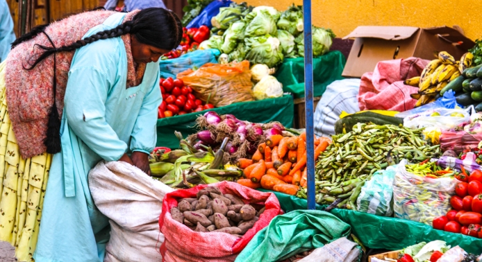 Vegetables. You see them in the markets bu few in restaurants.