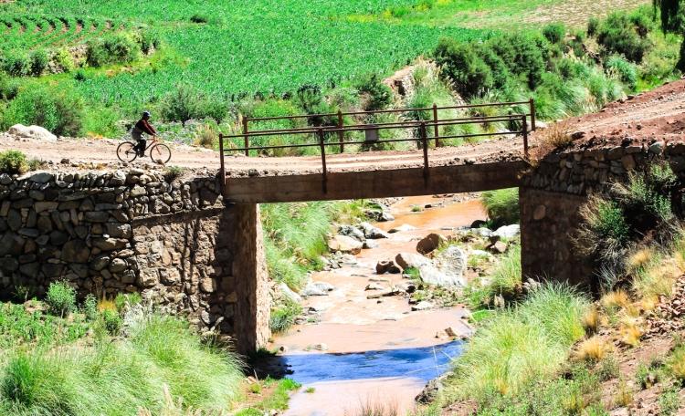 Bridge seen along the road to Cayara Hacienda.