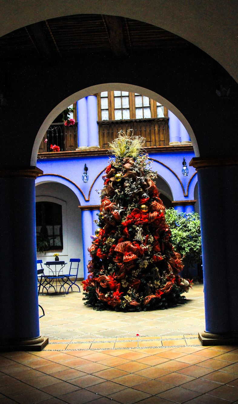 Christmas tree in the entrance to first floor.