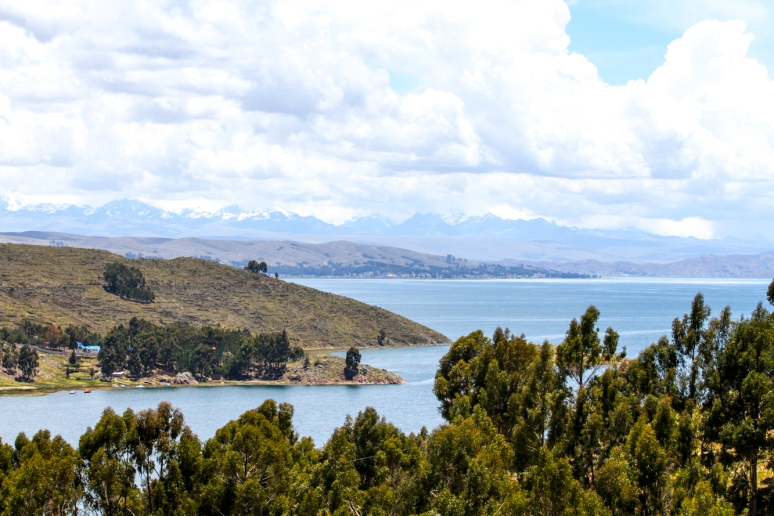 Calm waters of Lake Titicaca.