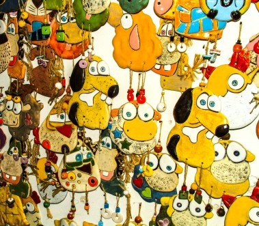Ceramic characters.