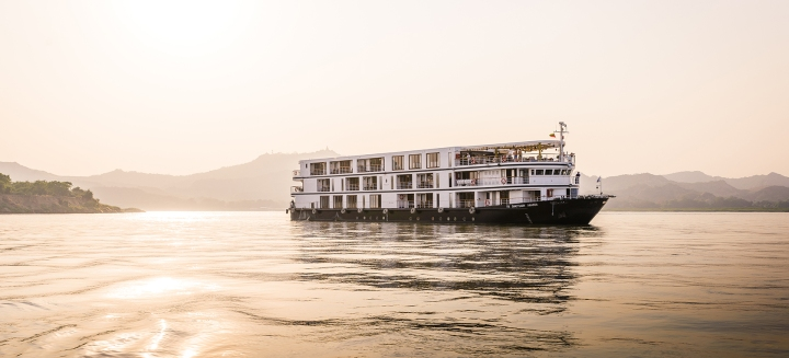 Cruise Ship Ananda on the Irrawaddy River, Myanmar